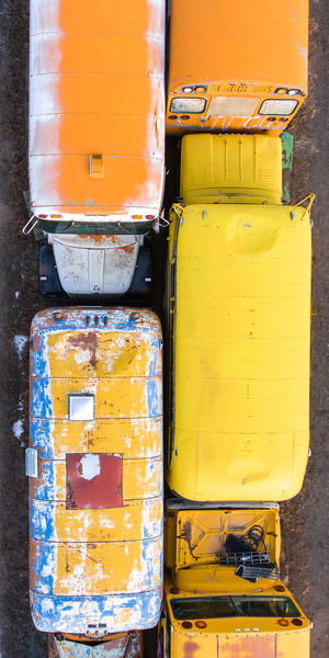 Old school buses. Buses Colorado Panoramic Aerial View Automotive Automotive Photography Bus Junkyard No People Old Buses Outdoors School Bus Schoolbus Yellow