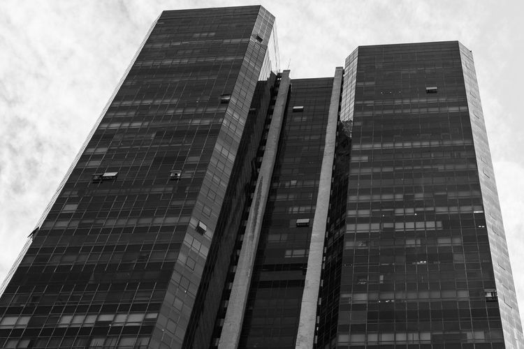 Uneven Architecture Blackandwhite Building Exterior Built Structure City Corporate Business Day Growth Julhofragaphotography Low Angle View Modern No People Outdoors Sky Skyscraper