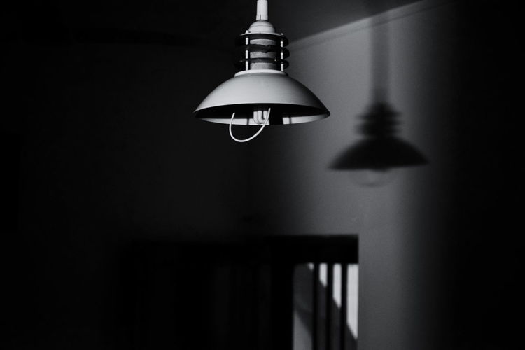 InMakin! Randomness Bnw Blackandwhite Lamp Lighting Equipment Light In The Darkness darkness and light Bnw Room Indoors  Selective Focus Monochrome Shadow