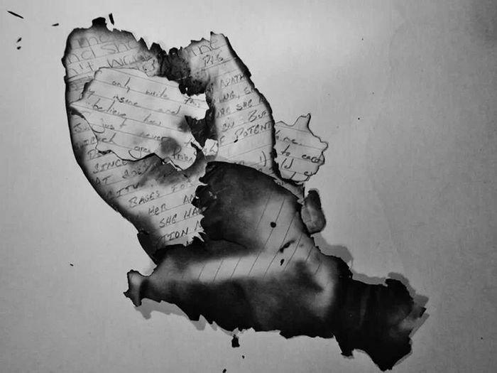 Art Ash Ashes Black And White Burnt Burnt Paper Charred Close-up Depression Focus On Foreground Letters Love Letters Love Letters Burn Love Lost Notes Pain Remains