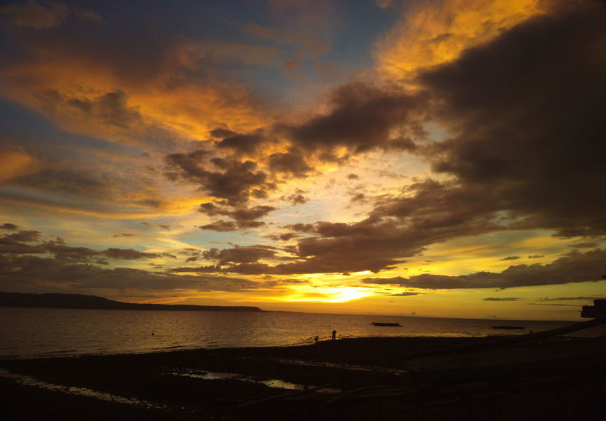 Beach Beauty In Nature Cloud - Sky Dramatic Sky Horizon Over Water Idyllic Nature No People Outdoors Sand Scenics Sea Sky Sunset Tranquility Travel Destinations Water Wave Eyeem Philippines