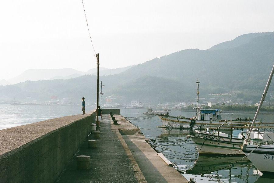 Film Photography Filmcamera 35mm Film NikonFM2 Nikon Japan Breakwater Summer Harbor Shodoshima Sea The Traveler - 2015 EyeEm Awards Minimalism