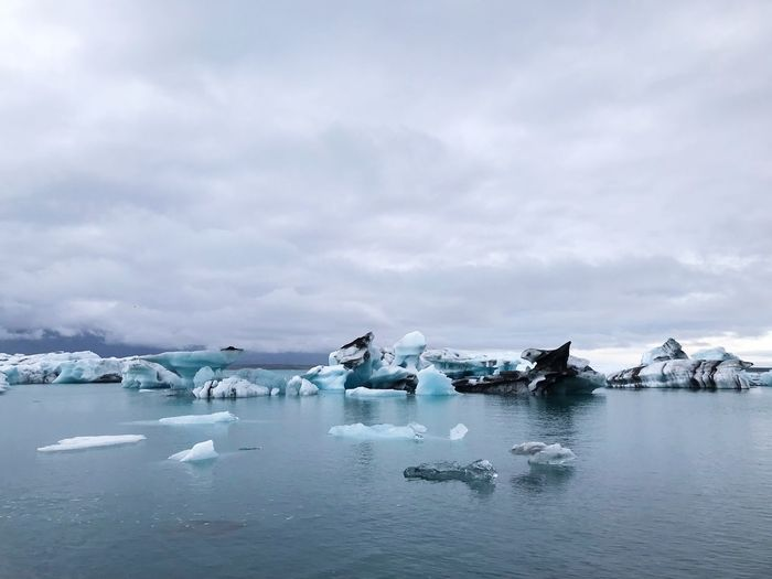Water Cloud - Sky Sky Ice Cold Temperature Transportation Sea Frozen Nautical Vessel Winter Beauty In Nature Snow Scenics - Nature Nature Glacier Waterfront Floating On Water Tranquility Tranquil Scene No People
