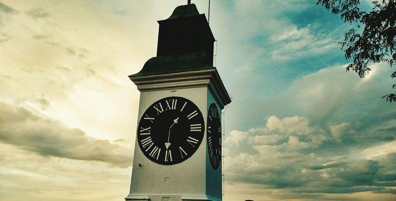 Petrovaradinfortress Clock Tower Serbia Novi Sad Sky And Clouds Blue Sky Clouds Skyporn