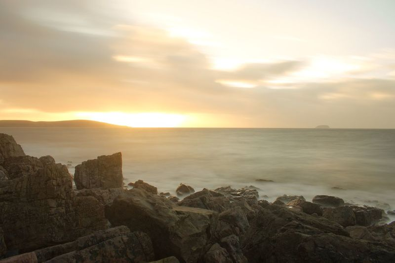 EyeEm Best Shots - Landscape Long Exposure Sea Sky Sunset Scenics Nature Tranquil Scene Beauty In Nature Water Tranquility Horizon Over Water Cloud - Sky Sunlight No People Beach Outdoors Day