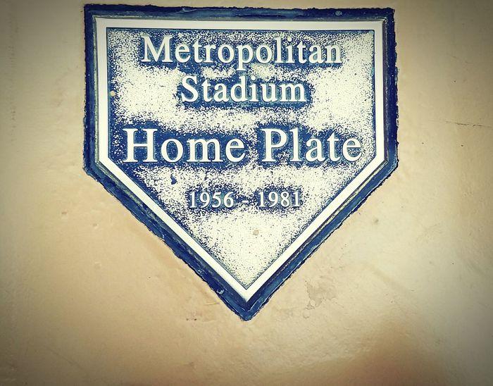 Close-up No People Metropolitan Stadium Home Plate 1956-1981 MOA Baseball ⚾