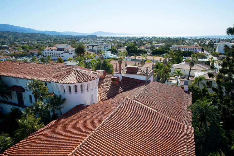 Architecture Building Building Exterior Built Structure City Clear Sky High Angle View Outdoors Residential District Roof Roof Tile Tile Roof TOWNSCAPE