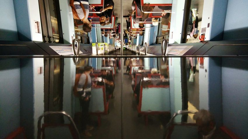 Train Day Reflection Real People Simetrical Upside Down World EyeEmNewHere The Street Photographer - 2017 EyeEm Awards Asuscamera Asusphotography Asus Zenfone Photography Asuszenfone3 Asus Camera