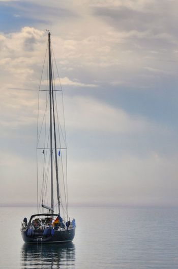 Nautical Vessel Sailing Horizon Over Water Tall Ship Sailboat Nature Simple Beauty Eye4photography  Enjoying Life Summertime Vacations Summer Simple Quiet Love Golden Hour Sailing Boat Light Peace And Quiet Peaceful Outdoors Sea Greek Islands Chios Greece Been There.
