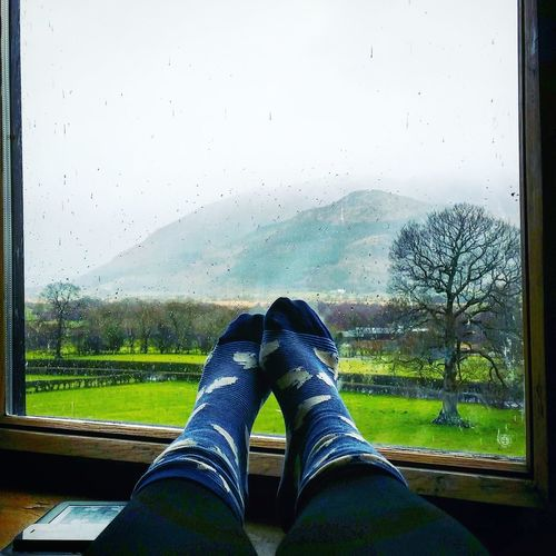 Rainy days Rainy Days Wet Day Lake District Skiddaw Window View View Countryside England Socks Rabbits Misty Fog Easter Sunday Home Is Where The Art Is Live For The Story