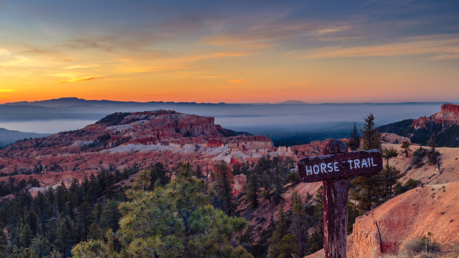 Beauty In Nature Bryce Canyon National Park Geology Landscape Mountain National Park No People Outdoors Physical Geography Rock - Object Rock Formation Scenics Sky Sunrise Sunrise Point Trailhead Travel Destinations Utah My Favorite Photo The Great Outdoors - 2016 EyeEm Awards