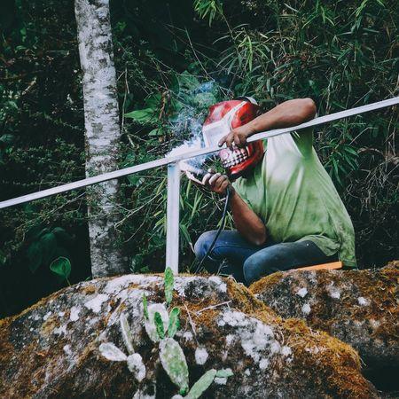 Monster Welder Working Building Construction Vscocam VSCO On The Job Working Hard