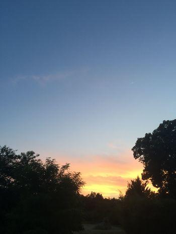 Coucher De Soleil Sunset Sans Filtre No Filter Ciel Sky Bonne Nuit 😴😴 Goodnight✌ EyeEm Best Shots