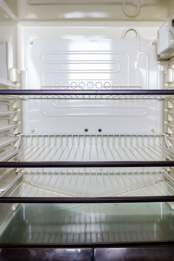 Close-Up Of Empty Refrigerator