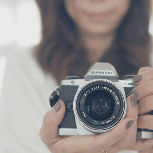 my camera and lens♡ Camera Selfportrait Olympus EM10 Omd カメラ 自撮り オリンパス Selfie