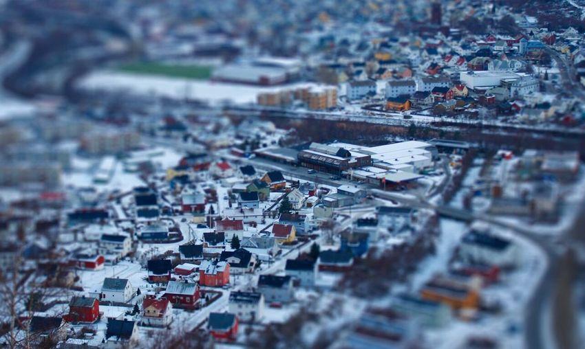 Tilt-shift øvre Årdal High Angle View Travel Destinations Norway