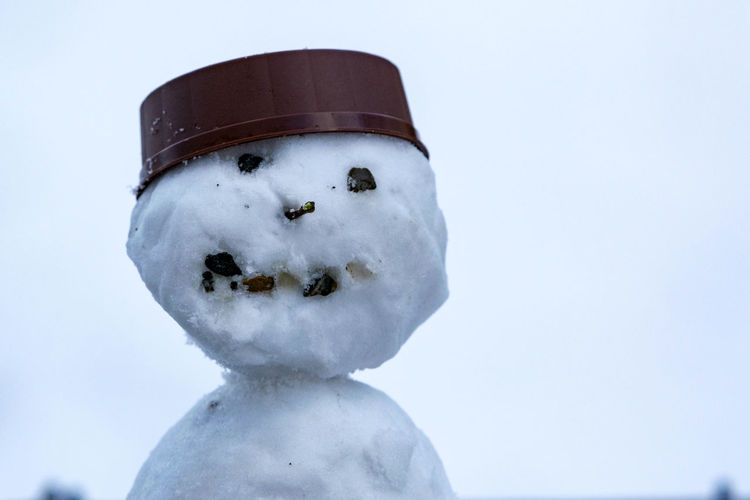 Clear Sky Day Nature No People Outdoors Schnee Schneemann Sky Snow Snowman Snowman⛄