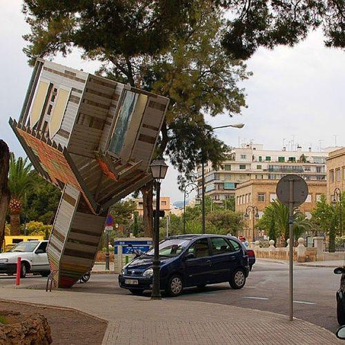 Church upside down in Palma Mallorca