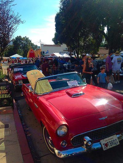 Ojai Day 2015 Thunderbird Car Show Red Ride Beautiful Car