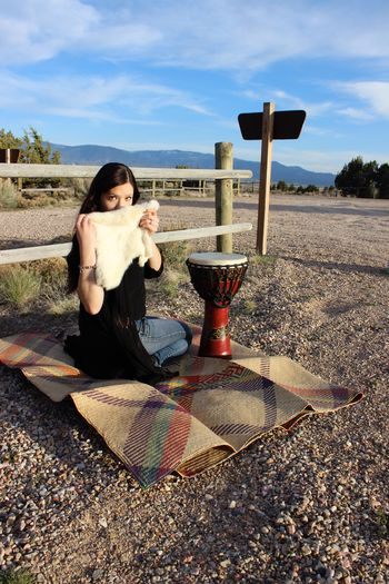 Trying to find peace Nature Photography Canonrebelt3i Road Utah Cedar City, Utah Vanessa Me Tattooedwomen Long Hair Hitchhiking Outdoors