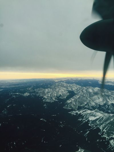 From An Airplane Window over western Canada . I love these Mountains !