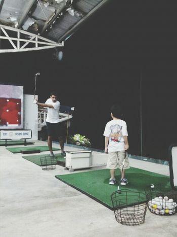 Training Golfing Being Tiger Woods Driving Range