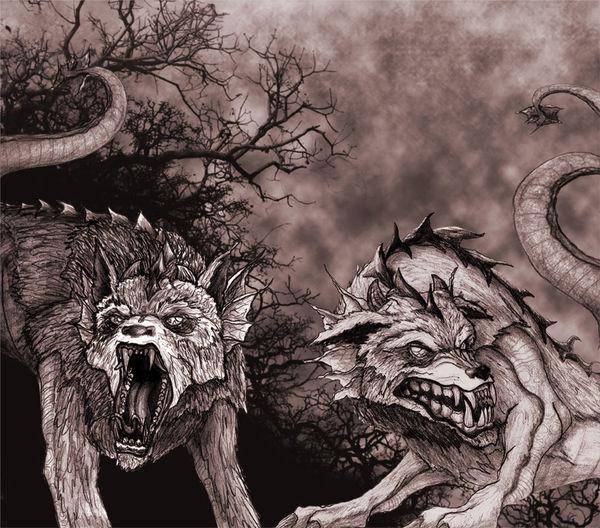 Draw Ficción Dibujo My Draw ♥ Ilustracion Dragones Lobo