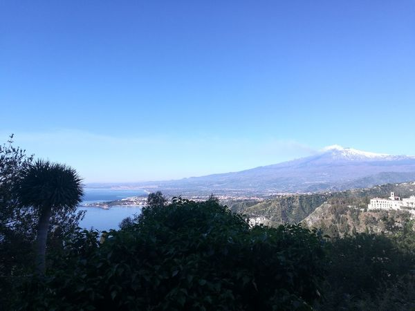 Mountain No People Clear Sky Outdoors Sky Nature Tree Beauty In Nature Day Blue Water Scenics Panoramic Panorama Taormina And Etna Taornima Vulcano Catania Etna Nature Montagna Business Finance And Industry Volcanic Landscape Italia Sicily