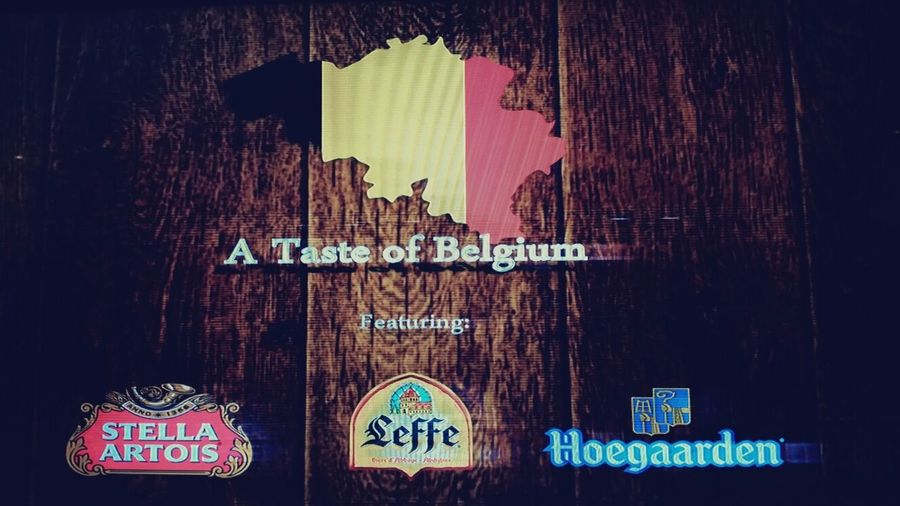 Having a taste of Belgium with Stellaartois Hoegaarden and Leffe. BeerTastingNight