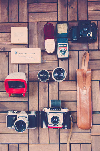 analog. Analogue Analogue Photography Arrangement Collection Colorful Kamera Kameraequip Kameraequipment Large Group Of Objects Medium Group Of Objects No People Vintage Cars