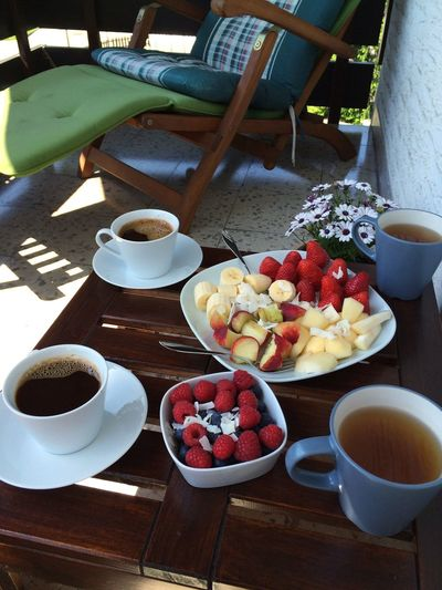 Morning Breakfast Fruits Coffee Sunshine Summer Enjoying Life