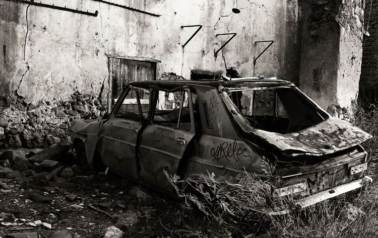 No People Day Outdoors Abandoned Destruction Car Damaged Army War The Street Photographer - 2017 EyeEm Awards