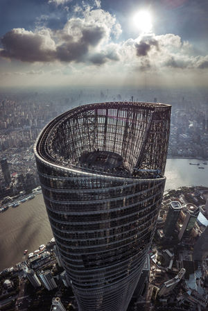 Shanghai Tower Architecture City Droneshot No People Shanghai❤ Sky Wide Wide Angle Lost In The Landscape