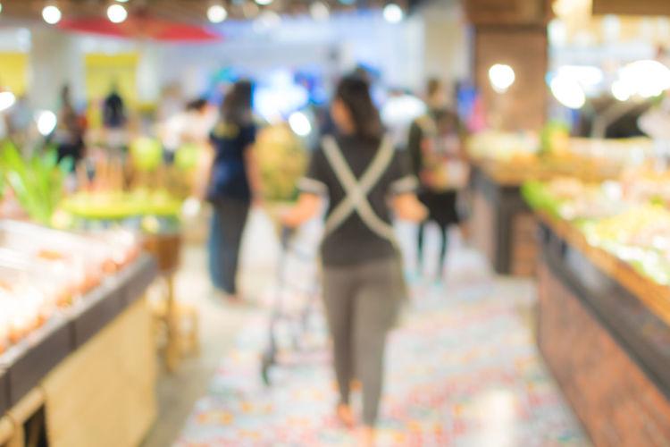 blur people in