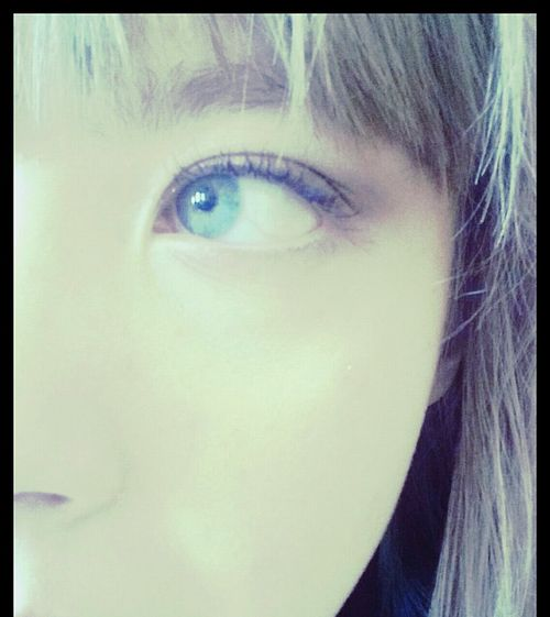 Eye My Face Blond Blue Eyes