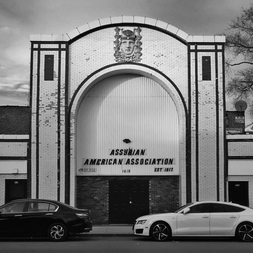 Asyrrian American Association Chicago Architecture Building Blackandwhite