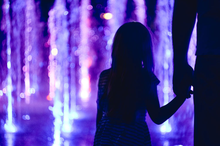 Dad - the biggest hero 🦸♂️ Dad Family❤ Exceptional Photographs Bokehlicious Bokeh Lights Bokeh Love Poland Fragility Helios 44-2 Ilumination Human Hand Women Silhouette Music Arts Culture And Entertainment Purple The Creative - 2019 EyeEm Awards