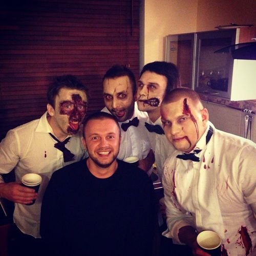 Hallowen вместехорошо зомби парни