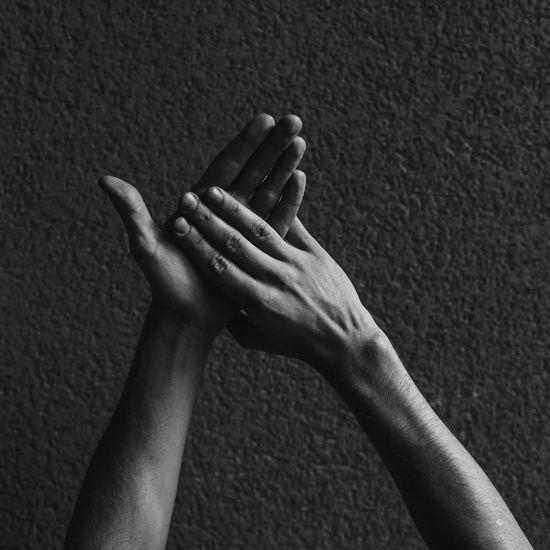 Sign language. Letter 'M'. Close-up Deaf Deafworld EyeEmNewHere Finger Hand Human Body Part Human Hand Human Skin Language Letter M Men People Real People Sign Sign Language Signs Skin Togetherness Universal Language Women