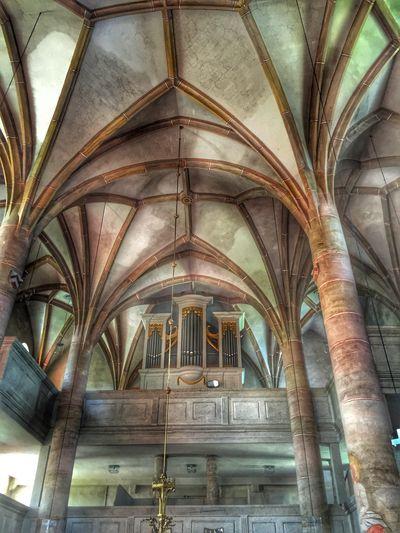 Gotisches Gewölbe der historischen Kirche St. Maria in Weißdorf. Church Gewölbedecke Gothic Ceiling Spiritual Churches Fichtelgebirge