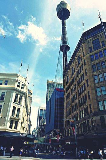 Sightseeing Taking Photos Town Tower
