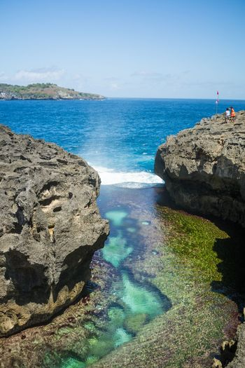 Angel's Billabong is a spectacular rock formation on Nusa Penida island's southwestern cliff edges. Angel Billabong Bali Backgrounds Beach Beauty In Nature Billabong Day Idyllic Land Nature No People Nusa Penida Outdoors Rock Rock - Object Rock Formation Scenics - Nature Sea Solid Tranquil Scene Tranquility Water
