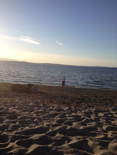 Random Marriage Proposal. At Alki Beach