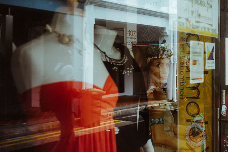 Arab Street, Singapore. 2017 © Chit Min Maung http://www.cmmaung.me/ Leicacamera LeicaM9 Featuredcollectives Streetphotography Streetphoto_color Reflection Cmmaung Cmmaungme Store Window Close-up Built Structure Window Display Retail Display Shop Mannequin Dressmaker's Model Display Cabinet Display Store Window