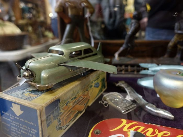 In its original box. Gotta love it. 1950s Memorabilia Antiques Show Close-up Flying Car Focus On Foreground Fresh On Eyeem  Fresh On EyeEm' Guy Stuff Mantiques Vintage Cars