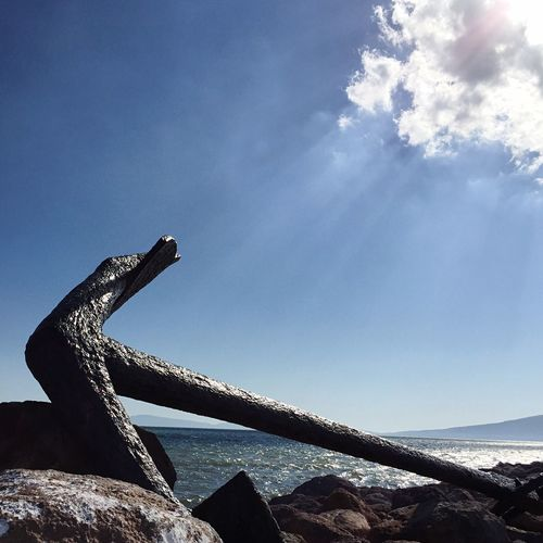 Live For The Story Sea Sky Water No People Nature Low Angle View Blue Beach Anchor Summer Greece Islands Sunlight
