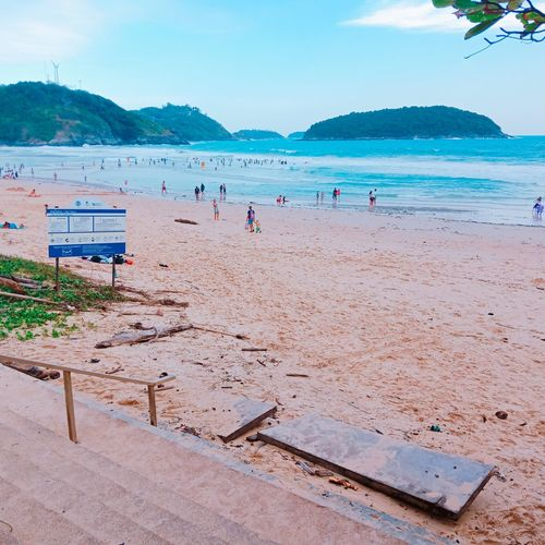 Holiday Thailand🇹🇭 Nai Harn Beach  Phuket Island Phuket Thailand Water Swimming Sea Beach Sand Summer Wave Blue Sky Horizon Over Water Beach Holiday