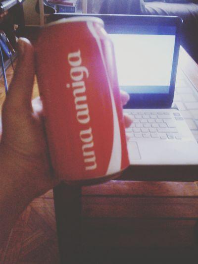 Friends ❤ Hello World ✌ Cocacola Compartecocacolacon
