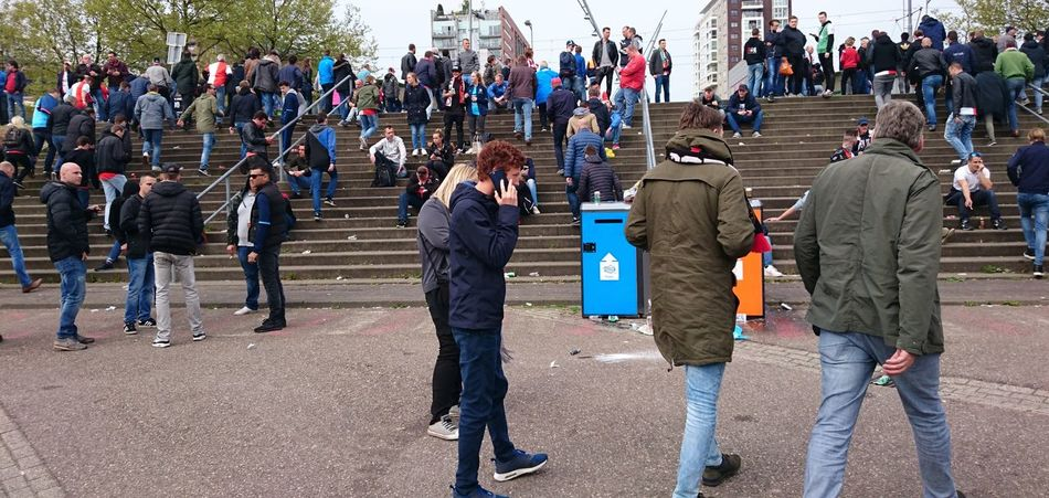 ExcFey After The Game  Disappointment Sad Large Group Of People Walking Outdoors Crowd Day Real People The Street Photographer - 2017 EyeEm Awards The Photojournalist - 2017 EyeEm Awards Feyenoord Stadium Feyenoord Rotterdam (c) 2017 Shangita Bose All Rights Reserved Championship Game Togetherness Public Transportation Netherlands Neighborhood Map