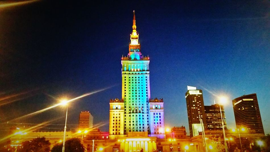 Night Lights, Warsaw Poland